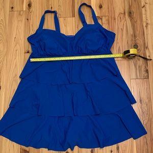 Swim dress size 16W royal blue EUC